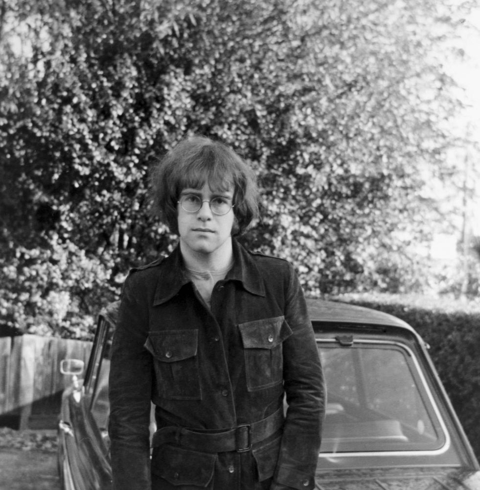 April 1969 - Elton with his new Hillman Husky Estate auto.