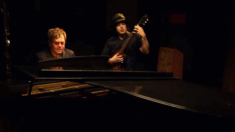 Elton recording 2 Fingers Of Whiskey with Jack White.