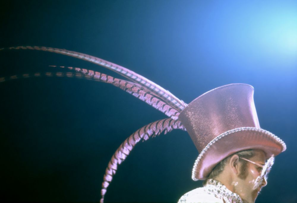 Elton on stage in 1974. (Photo: Sam Emerson)