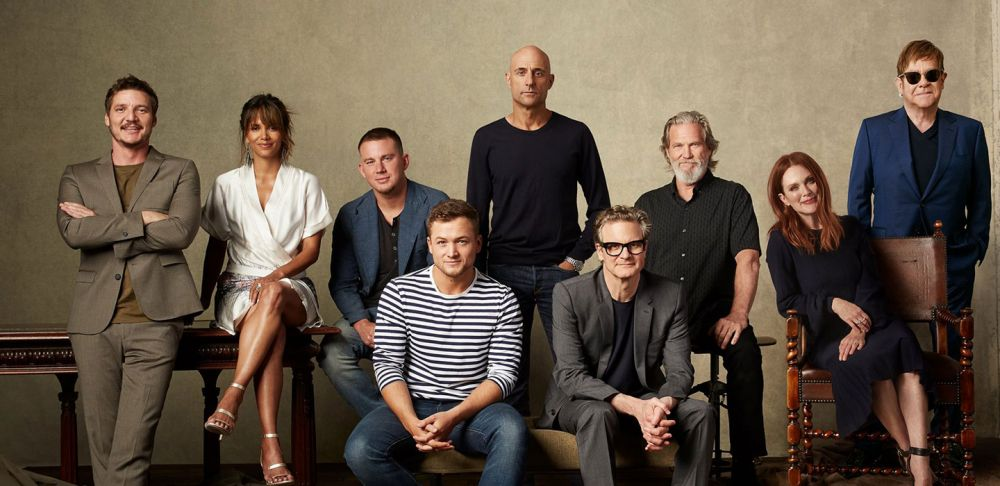Elton with the cast of Kingsman: The Golden Circle