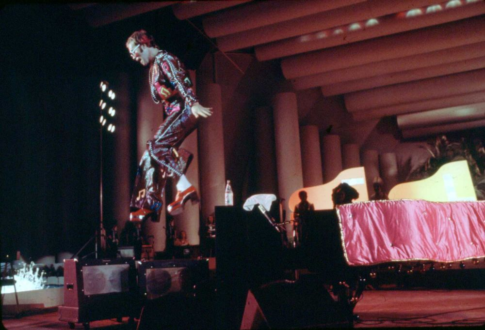Elton at the Hollywood Bowl, 1973. (Photo: Ed Caraeff)