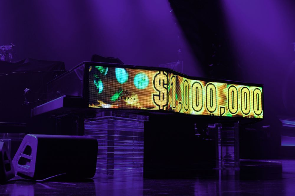 Yamaha built Elton's Million Dollar Piano, featuring more than 68 video screens (Photo: Carl Studna)