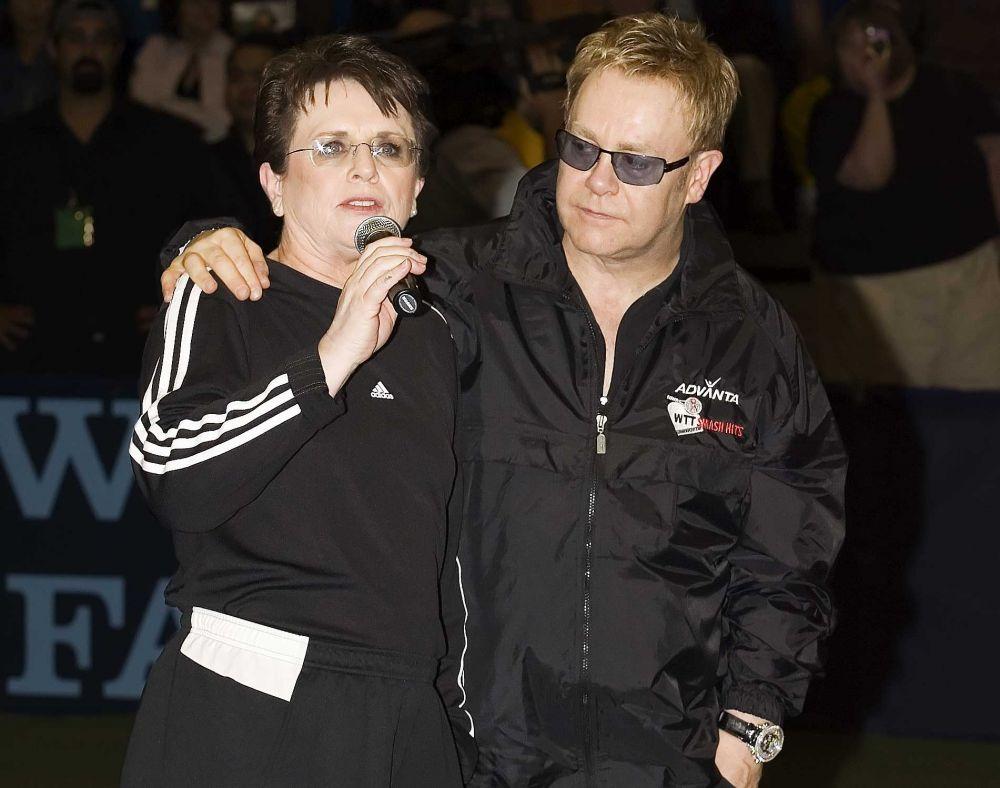 Billie Jean King and Elton John at Smash Hits 2013 at the Walt Disney World Resort in Orlando, FL. (Photo: Fred & Susan Mullane/CameraworkUSA)