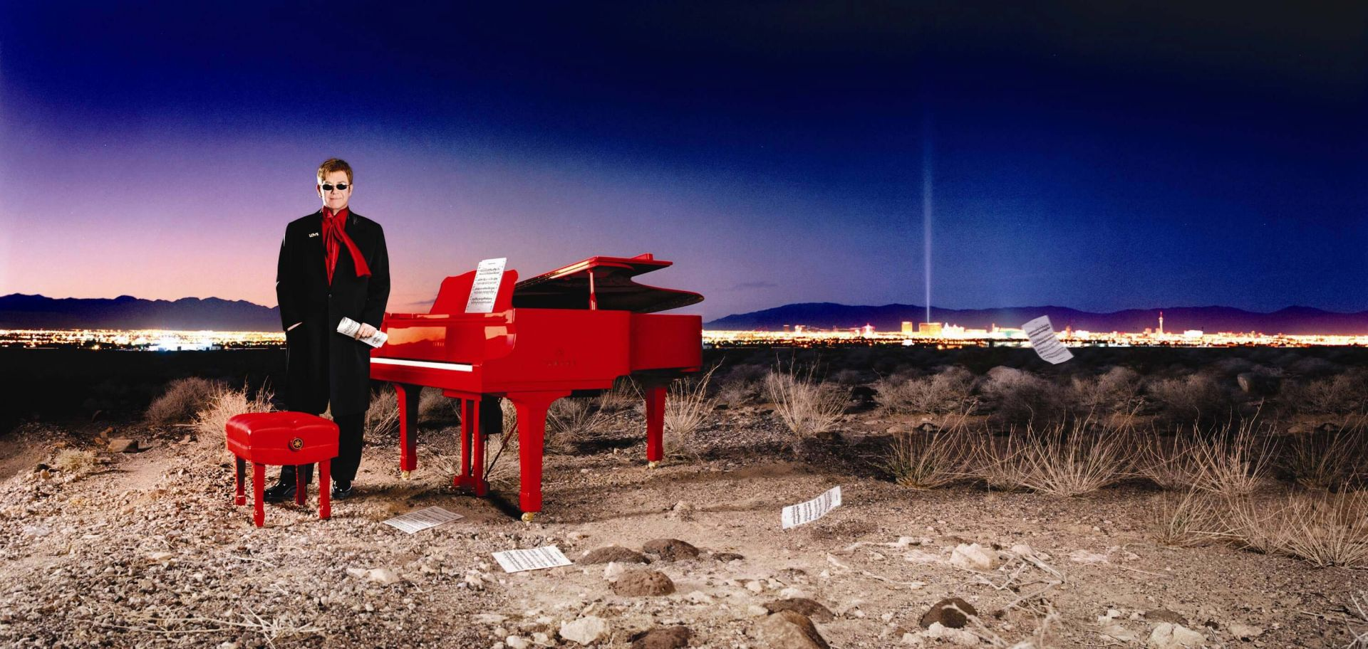 The Red Piano in Las Vegas.