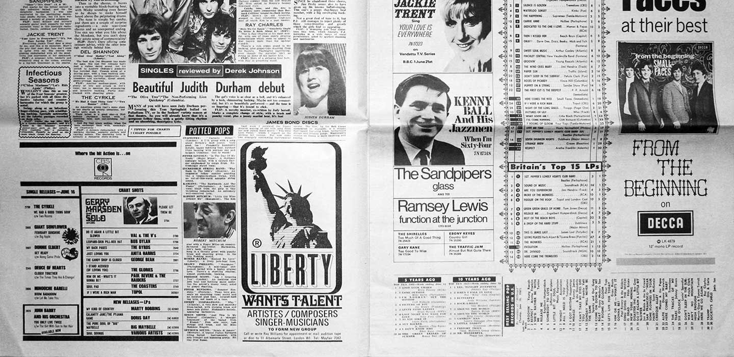 The Liberty ad in New Musical Express.