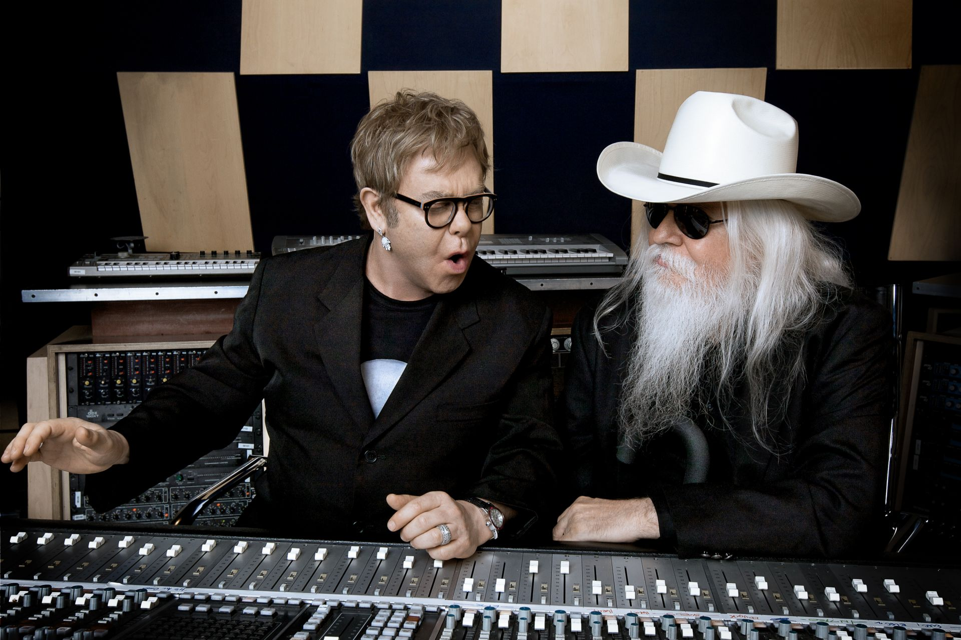 Elton and Leon in the studio, 2010. (Photo: Joseph Guay)