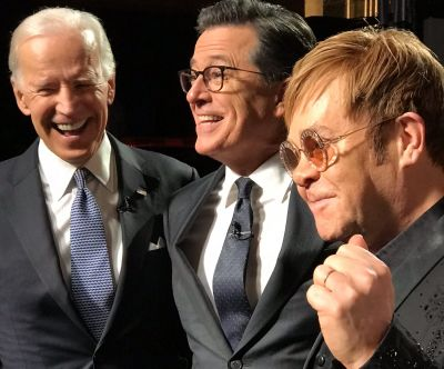 Elton on The Late Show with Stephen Colbert
