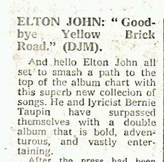 'Goodbye Yellow Brick Road' - Release/Reception