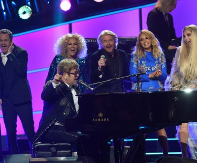 Behind the Scenes at Elton's GRAMMY Tribute